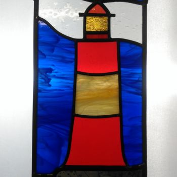 'Stormy Skies' Lighthouse panel