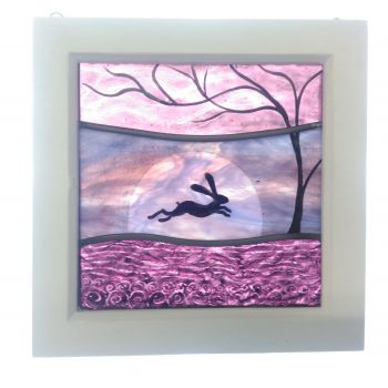 NEW!!! Small framed panel 'Pink Sunrise'