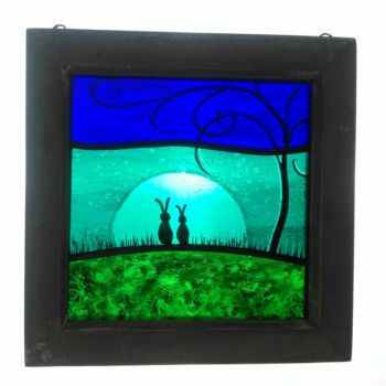 NEW!!! Small framed panel 'Me, You and the Moon Came Too'