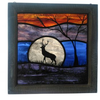 NEW!!! Medium framed panel 'Autumn Stag'