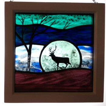 NEW!!! Medium framed panel 'Midnight Stag'