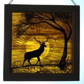 Medium framed panel 'Summer Stag'