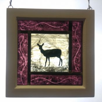 Small framed panel - Lilac Fawn NEW RANGE!