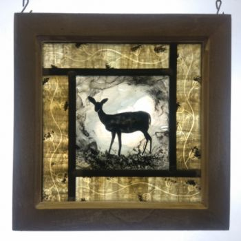 Small framed panel - Winter Fawn NEW RANGE!