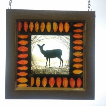 Small framed panel - October Fawn NEW RANGE!