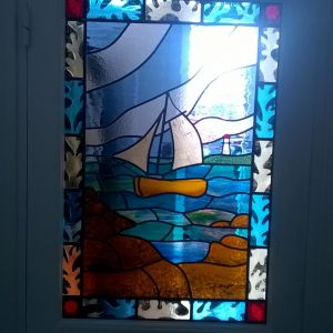 Interior door panel with Seaweed and Yacht