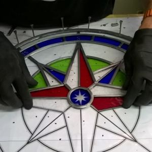Compass window for old school restoration
