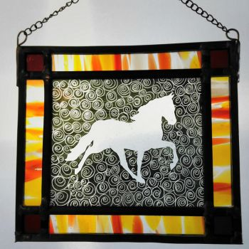 Beautiful one-off painted Horse panel